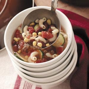 Minestrone Soup with Hamburger Recipe