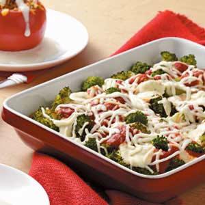 Italian Broccoli Cheese Bake Recipe