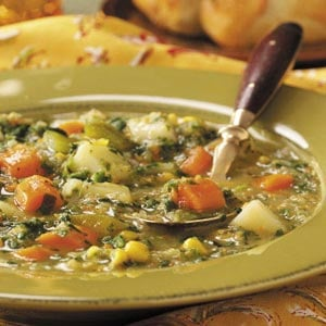 Spinach Vegetable Soup Recipe