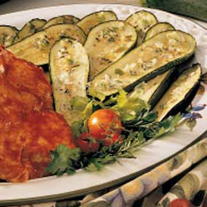 Broiled Zucchini with Rosemary Butter Recipe