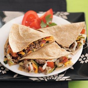 Chili Beef Quesadillas Recipe