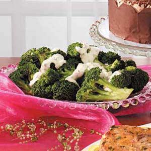 Broccoli with Tangy Horseradish Sauce Recipe