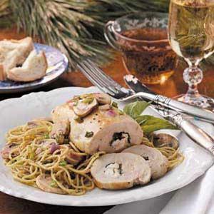 Chicken Rolls with Pesto Pasta Recipe