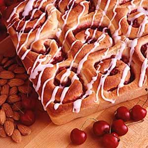 Cherry Nut Breakfast Rolls Recipe