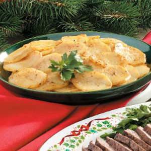 Honey-Mustard Potato Slices Recipe