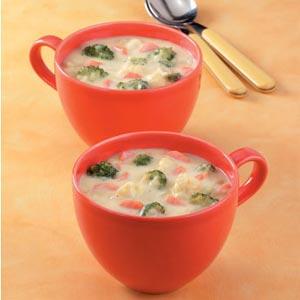 Cauliflower Broccoli Cheese Soup Recipe