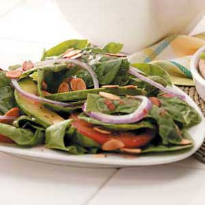 Almond Spinach Salad Recipe