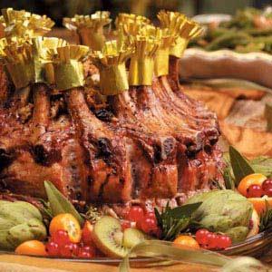 Crown Roast of Pork with Apple Raisin Stuffing Recipe