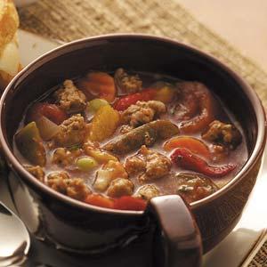 Hot Italian Sausage Soup Recipe