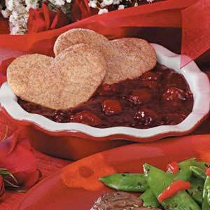 Cranberry Cherry Sweetheart Dessert Recipe