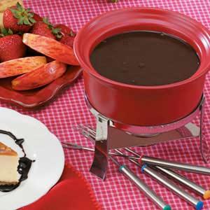 German Chocolate  Fondue Recipe