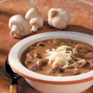 Beefy Mushroom Soup Recipe
