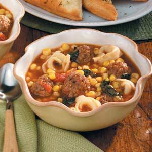 Meatball Tortellini Soup Recipe