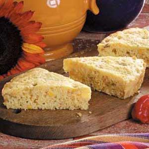 Chili Corn Bread Wedges Recipe