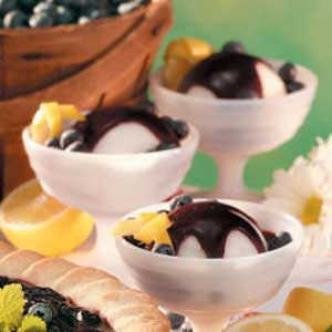 Blueberry Sauce for Sorbet Recipe