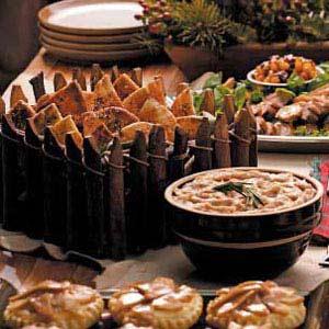 Bean Spread on Pita Crackers Recipe
