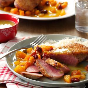 Duck Breasts with Apricot Chutney Recipe