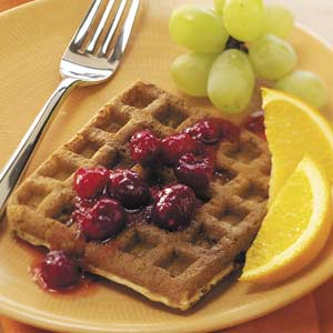 Cran-Orange Waffles Recipe