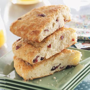 Cranberry Coffee Cake Wedges Recipe