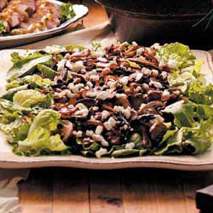 Warm Mushroom Salad Recipe