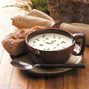 Creamy Leek Soup with Brie Recipe