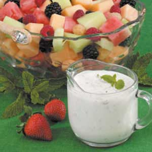 Mint Dressing For Fruit Recipe