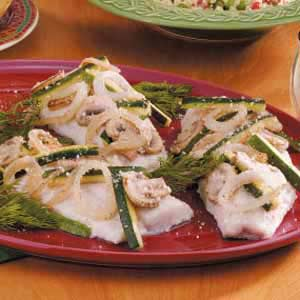 Baked Walleye with Vegetables Recipe