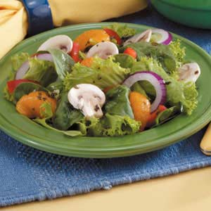 Mixed Green Salad with Raspberry Dressing Recipe