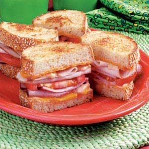 Grilled Club Sandwiches Recipe