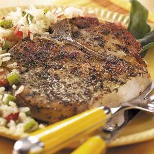 Herb-Rubbed Pork Chops Recipe