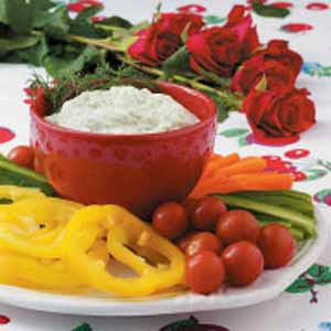 Creamy Dill Dip with Veggies Recipe