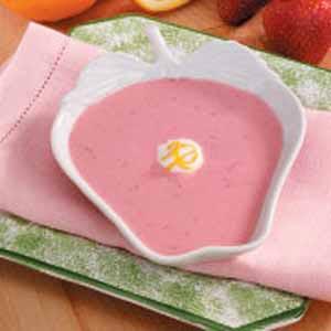 Chilled Strawberry Yogurt Soup Recipe