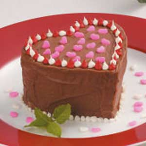 Valentine cakes recipe taste of home for Valentine cake recipes with pictures