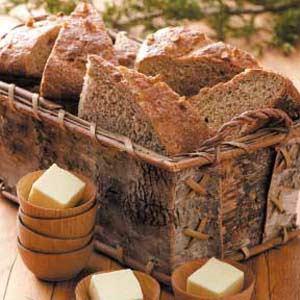 Walnut-Crusted Wheat Loaves Recipe