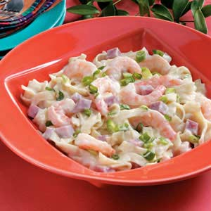 Shrimp and Ham Alfredo Recipe