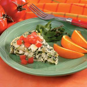 Crustless Mushroom-Spinach Quiche Recipe