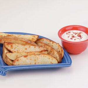 Potato Wedges with Dip Recipe