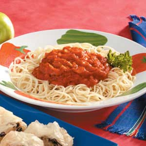 Pasta with Roasted Red Pepper Sauce Recipe