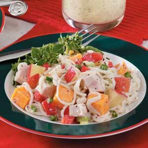 Cheddar-Apple Turkey Salad Recipe