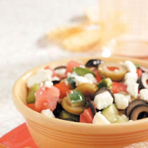Fresh Greek Garden Salad Recipe