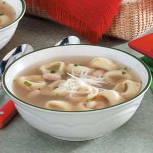 Garlic-Basil Tortellini Soup