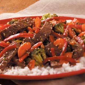Sesame Ginger Beef Stir-Fry Recipe