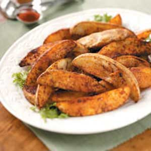 Chili-Seasoned Potato Wedges Recipe