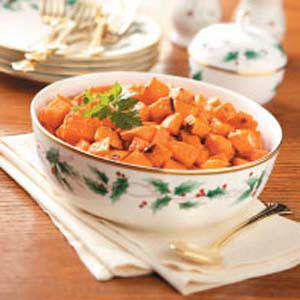 Candied-Ginger Sweet Potatoes Recipe