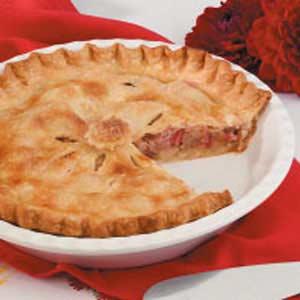 Double-Crust Rhubarb Pie