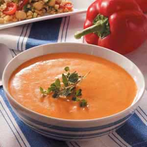 Roasted Red Peppers Soup Recipe