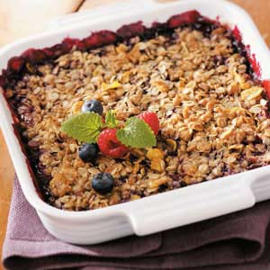 Double-Berry Crisp Recipe