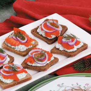 Smoked Salmon Canapes Recipe