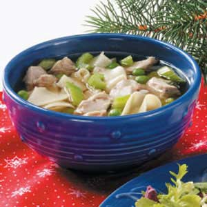 Turkey Noodle Soup for Two Recipe