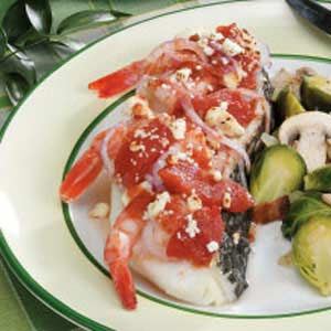 Sea Bass with Shrimp and Tomatoes Recipe